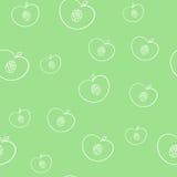 Teste padrão do fundo dos fruts do verão no vetor Fotos de Stock Royalty Free