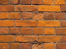 Teste padrão do fundo, tijolo alaranjado. fotografia de stock