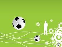 Teste padrão do futebol Imagens de Stock Royalty Free