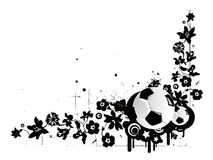 Teste padrão do futebol Ilustração do Vetor