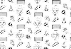 Teste padrão do futebol Fotografia de Stock Royalty Free
