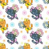Teste padrão do gatinho Imagens de Stock Royalty Free