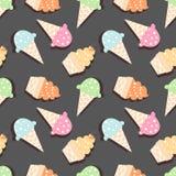 Teste padrão do gelado ilustração stock