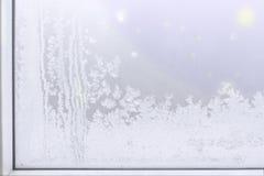 Teste padrão do gelo Fotografia de Stock