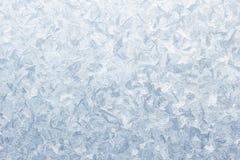 Teste padrão do gelo na janela congelada Imagem de Stock
