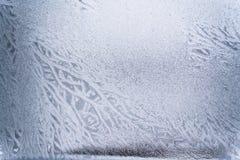 Teste padrão do gelo no vidro Imagens de Stock
