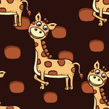 Teste padrão do girafa Imagens de Stock Royalty Free