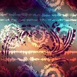 teste padrão do grunge da Laço-tintura com transparência Imagem de Stock