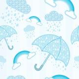 Teste padrão do guarda-chuva, da nuvem e do raingbow Imagem de Stock