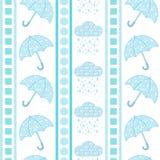 Teste padrão do guarda-chuva e da nuvem Imagens de Stock