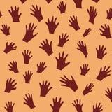 Teste padrão do handprint do vetor Fotografia de Stock Royalty Free