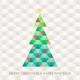 Teste padrão do hexágono da árvore de Natal Imagem de Stock Royalty Free