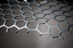 Teste padrão do hexágono do fundo do metal Fotos de Stock