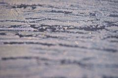 Teste padrão do inverno Flocos de neve brancos Cor cinzenta Boke Imagens de Stock Royalty Free