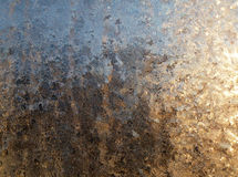 Teste padrão do inverno no vidro Imagens de Stock