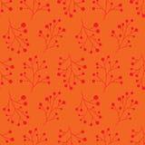 Teste padrão do inverno Teste padrão sem emenda do Natal com ramos Textura vermelha do vetor com bagas Feliz Natal Ano novo feliz Foto de Stock