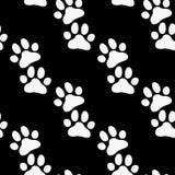 Teste padrão do jardim zoológico da pata Vetor preto e branco para o projeto do jardim zoológico Imagem de Stock
