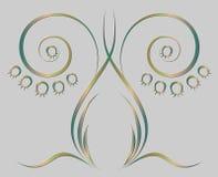Teste padrão do lírio estilizado do vale Ilustração Royalty Free