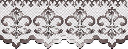 Teste padrão do laço com ornamento florais Ilustração Royalty Free