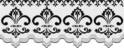 Teste padrão do laço com os ornamento florais clássicos Ilustração do Vetor