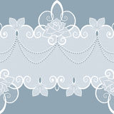 Teste padrão do laço com pérolas e rosas Imagens de Stock
