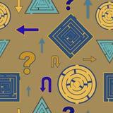 Teste padrão do labirinto Imagem de Stock Royalty Free