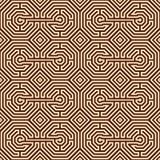 Teste padrão do labirinto Fotografia de Stock Royalty Free