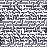 Teste padrão do labirinto da geometria do sumário do gráfico de vetor fundo geométrico sem emenda roxo do labirinto Imagem de Stock Royalty Free
