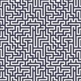 Teste padrão do labirinto da geometria do sumário do gráfico de vetor fundo geométrico sem emenda roxo do labirinto Fotografia de Stock Royalty Free