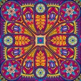 Teste padrão do lenço do quadrado de Boho paisley Foto de Stock