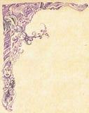 Teste padrão do Lilac pintado ilustração royalty free