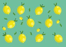 Teste padrão do limão Imagem de Stock
