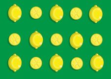 Teste padrão do limão Imagens de Stock
