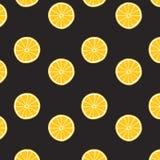 Teste padrão do limão no fundo preto Textura da cópia Projeto da tela Fotografia de Stock Royalty Free