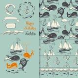 Teste padrão do mar ilustração stock