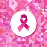 Teste padrão do moderno da fita da campanha do câncer da mama Fotos de Stock Royalty Free