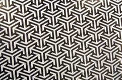 Teste padrão do monochrome geométrico um 2D com ordem triangular Fotografia de Stock