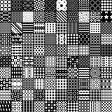 teste padrão do monochrome 100 Teste padrão do vetor Fotografia de Stock Royalty Free