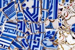Teste padrão do mosaico de Gaudi fotografia de stock