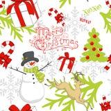 Teste padrão do Natal Fotografia de Stock Royalty Free