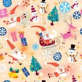Teste padrão do Natal Imagens de Stock Royalty Free