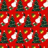 Teste padrão do Natal ilustração royalty free
