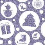 Teste padrão do Natal Imagens de Stock