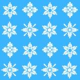 Teste padrão do Natal com flocos de neve Fotografia de Stock Royalty Free