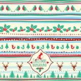 Teste padrão do Natal do vetor do vintage ilustração stock