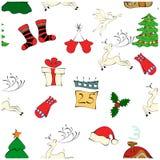Teste padrão do Natal em um fundo branco imagem de stock royalty free