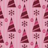 Teste padrão do Natal, sem emenda; Árvore de Natal, decoratio do Natal fotografia de stock royalty free