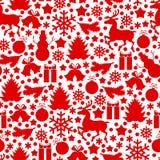 Teste padrão do Natal SEM EMENDA ilustração do vetor