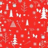 Teste padrão do Natal Vetor Fotografia de Stock