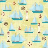 Teste padrão do navio ilustração royalty free